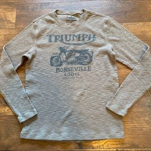 Lucky Brand Triumph Motorcycle Thermal Gray LG